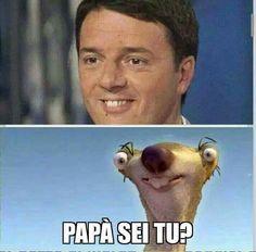 Renzi, Renzi sei veramente messo così male??