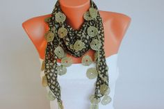 Fringed lace scarf Summer scarf woman scarf by SenasShop on Etsy, $12.90