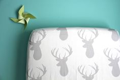 NEW fitted crib sheet in gray deer exclusive to by iviebaby,  FOR Baby Ryker