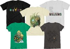 IT'S WE LOVE FINE WEDNESDAY!  And if you LOVE our Marvel Villains Contest winners, now's your chance to win one! - repin this post & you're entered to win your choice of our top five winners, including the judges' picks from Tom Hiddleston and Jill Pantozzi; men's and womens' sizes available!   Repin and WIN - good luck!