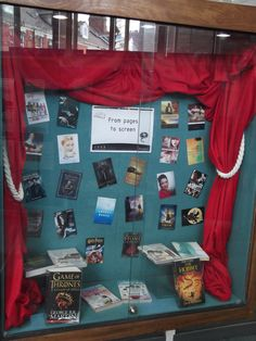 From pages to screen display at Jesmond Library (books adapted on TV shows or movies)