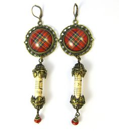 Ancient Romance Series - Scottish Tartans Collection - Royal Stewart Earrings by DivaDesigns1, via Flickr