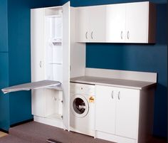 Check out these great laundry design ideas and custom built cabinets. A wide range of options for your new laundry. Call us on 1300 696 468 or visit online