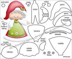 ФЕТРоголик (корейский фетр и фурнитура) Felt Christmas Decorations, Felt Christmas Ornaments, Christmas Art, Christmas Projects, Christmas Gnome, Felt Crafts, Holiday Crafts, Theme Noel, Christmas Templates