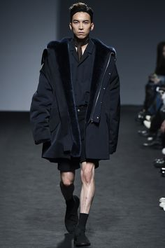 87MM Fall / Winter 2016 - Man in Parka with Fur
