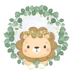 - Buy this stock vector and explore similar vectors at Adobe Stock Watercolor Lion, Watercolor Animals, Watercolor Illustration, Woodland Illustration, Cute Animal Illustration, Animal Drawings, Cute Drawings, Deco Baby Shower, Lion Drawing