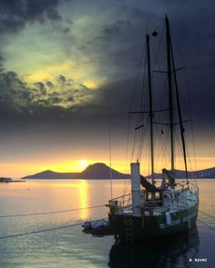 Bodrum Yalikavak sunset / Turkey