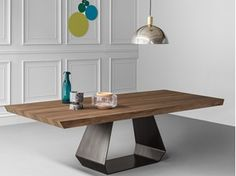 AMOND rectangular wooden table | Wooden table - Bonaldo