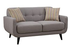 Crystal Gray MidCentury Love Seat ** More info could be found at the image url.