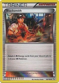 Blacksmith 88/106 - PROMO Pokemon XY Flashfire Holo Trainer Card #Pokemon