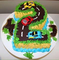 Bolo Pista de carros nº 2 Sugar Bella - Biscoitos e doces artesanais: Aniversário