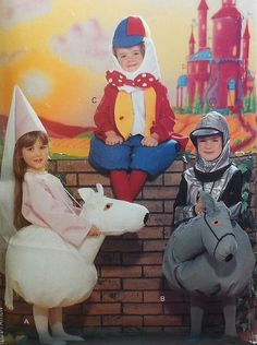 Knight Princess Horse and Humpty Dumpty Costume Sewing Pattern