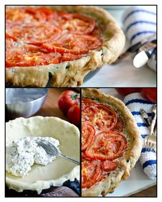 What a yummy, savory dish!! Tomato and Goat Cheese Tart with Rosemary and Mascarpone