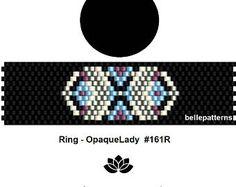 peyote ring pattern,PDF-Download, #161R, beading pattern, beading tutorials, ring pattern