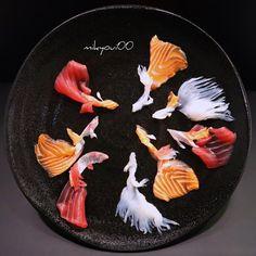 Amateur Culinary Artist Creates The Most Amazing Sashimi Plating Tempura, Mochi, Dessert Chef, Amazing Food Art, Tapas Recipes, Tapas Food, Food Carving, Quick Easy Desserts, Gourmet Desserts