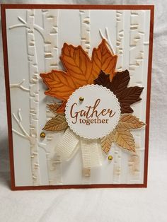 Thanksgiving Cards, Holiday Cards, Christmas Cards, Scrapbook Cards, Scrapbooking, Leaf Cards, Make Your Own Card, Autumn Cards, Hand Stamped Cards