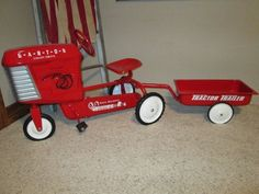 Antique Garton Pedal Tractor with Wagon