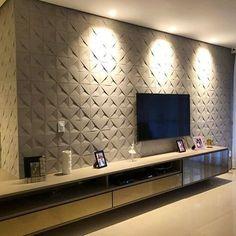 Tv Wall Design, Tv Unit Design, Ceiling Design, Interior Design Living Room, Living Room Designs, Interior Decorating, Lcd Panel Design, Room Wall Tiles, Tv Unit Furniture