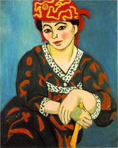 The Red Madras Headdress - Matisse