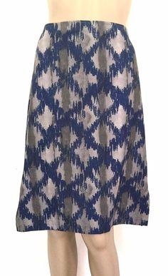 Romeo Gigli (G Gigli) 100% Cotton Print Skirt - Size 44- US Size 10- EUC #romeoGigli #StraightPencil