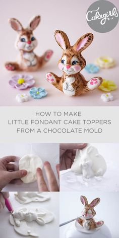 Such an easy way to make a little Easter cake topper without all the hand molding | Cakegirls Step x Step