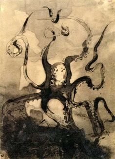 Octopus illustration by Victor Hugo for his book _Toilers of the Sea_ (French: Les Travailleurs de la Mer)