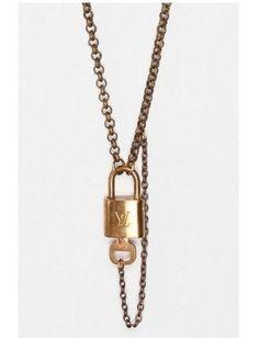 me want! - Vintage Louis Vuitton Lock Necklace - $395