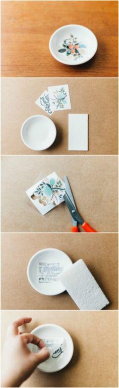 Quatable Inspirational Ceramic Trinket Dish Jewelry Tray Snack Plate Ring Holder XOXO