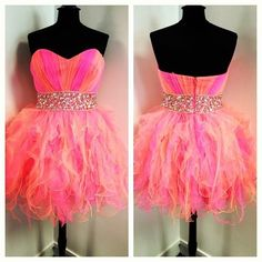 Pink neon party dres