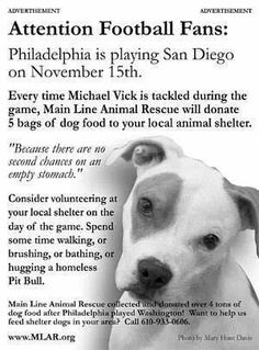 Interesting.....Football Fans unite for dogs. ♥