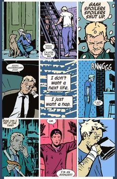 Clint Barton - Hawkeye speaks for us all. Honestly I wish they had a different actor for Hawkeye in the avengers. These comic clips make me like Hawkeye a lot more. Dc Memes, Marvel Memes, Marvel Dc Comics, Marvel Avengers, Marvel Girls, Deathstroke, Power Girl, Deadpool, Clint Barton