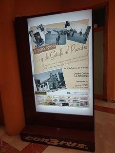 Nuestro espectacular luminoso anunciando la exposición en el Centro Cívico Alhóndiga (25-02-2013)