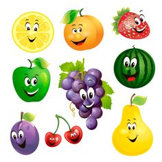 Cartoon fruit expression vector free vector Source by lazarlidia Fruits And Vegetables Pictures, Vegetable Pictures, Fruit Clipart, Fruit Vector, Funny Fruit, Free Games For Kids, Fun Games, Fruit Cartoon, Orange Party