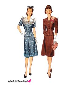 There's nothing like 1940s fashion!