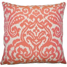 Wafai Ikat Pillow Coral