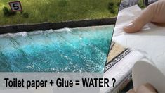 Toilet paper + Glue = Realistic Ocean water - YouTube How To Make Water, Making Water, Christmas Village Display, Christmas Villages, Ocean Diorama, Water Modeling, Landscape Model, Paper Glue, Paper Paper