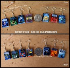 Combines books and Doctor Who. DOCTOR WHO Mini Book Earrings From Durable Clay by maryfaithpeace, $20.00