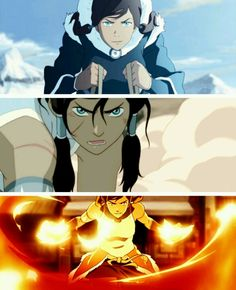 Korra: how to epic face;  1. tilt head down  2. furrow brow  3. stare with intense eyes & mouth slightly agape.  ;)