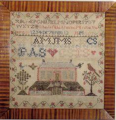 jane skinner sampler 1850