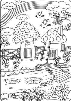 20 coloring pages for grownups page 20 Make your world more colorful with free printable coloring pages from italks. Our free coloring pages for adults and kids. House Colouring Pages, Colouring Pics, Coloring Pages To Print, Free Printable Coloring Pages, Coloring Book Pages, Coloring Sheets, Free Adult Coloring, Coloring Pages For Kids, Mandala Coloring