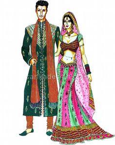 Indian Bride and Bridegroom