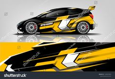 Similar Images, Stock Photos & Vectors of Car decal wrap design vector. Graphic abstract stripe racing background kit designs for vehicle, race car, rally, adventure and livery - 1168303909 Racing Car Design, Sports Car Racing, Race Cars, Design Cars, Car Wrap Design, Car Painting, Cartoon Painting, Design Vector, Hatchback Cars