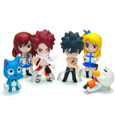 These cute little Fairy Tail figures come either as keychains or action figure models. (note you may only select one of these 2 options) As a set of 6, it's super value for money! Perfect as gifts for