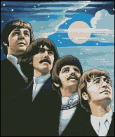 THE BEATLES 1 cross stitch pattern by glenniz