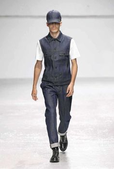 New KrisVanAssche x LEE Raw/DRY Denim Sleaveless Jacket Waistcoat Vest S/M/L/XL