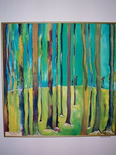 Original Painting Fine ArtFiber Art Silk Forest by MysticSilks, $275.00