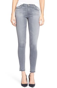 AG 'The Legging' Released Hem Ankle Skinny Jeans (Cool Grey)