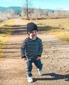 This listing is for one Black Stripe crew neck sweater. Toddler Fashion, Toddler Outfits, Boy Fashion, Kids Outfits, Bebe Shirts, Baby Brands, Monochrome Fashion, Stylish Baby, Kids Branding