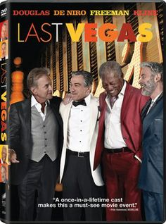Four Hollywood legends hit Sin City in comedy film 'Last Vegas', coming to DVD and Blu-ray on Tuesday, January 28, 2014. Cast: Michael Douglas, Robert De Niro, Morgan Freeman, Kevin Kline, Mary Steenburgen, Jerry Ferrara and Romany Malco