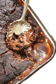 Gooey Pumpkin Spice Latte Chocolate Pudding Cake
